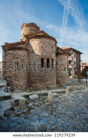Old basilica in Nessebar town in Bulgaria