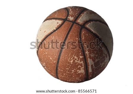 Old Basketball - stock photo