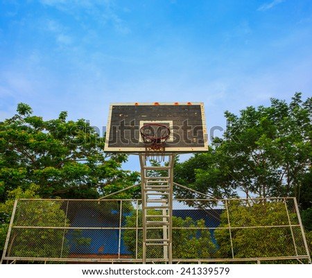 Old Basketball hoop,Thailand  - stock photo
