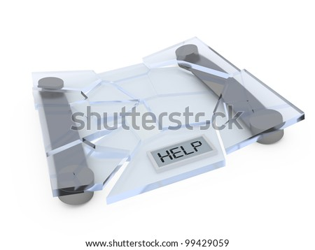 Old bathroom scale. - stock photo