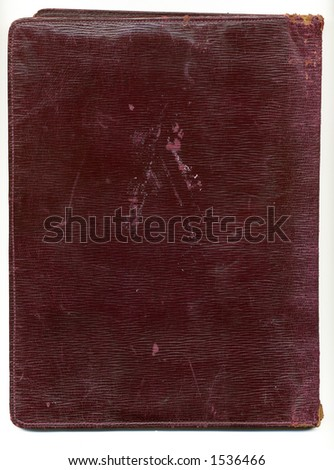 old battered  wallet - stock photo