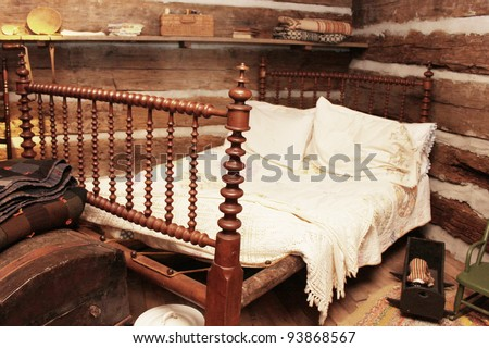 Old bed - stock photo