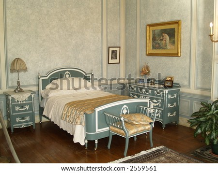old bedroom - stock photo