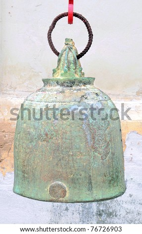 old bell in the temple - stock photo