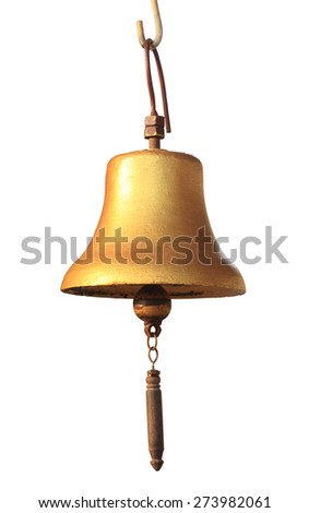 Old bell on white background (isolated)