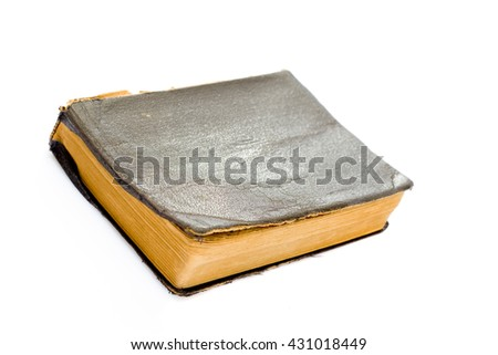 Old bible isolated on white background
