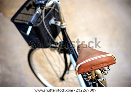 Old bicycle in vintage  - stock photo