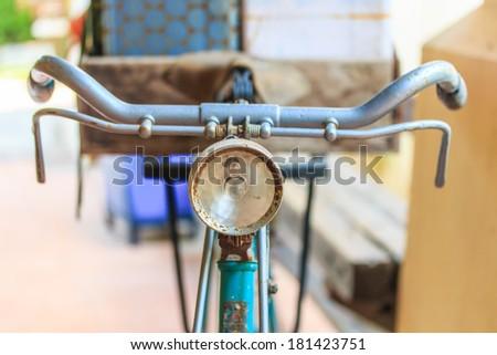 Old bicycle Old bike  - stock photo