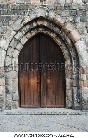 Old big wooden gate