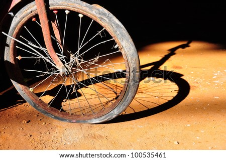 old bike - stock photo