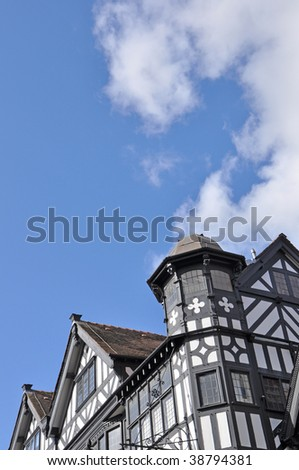 Old Black and White Buildings in Chester, Cheshire, England
