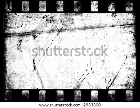 old black and white film frame - stock photo
