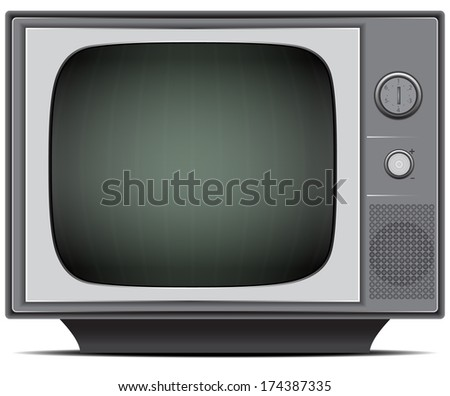 Old black and white TV