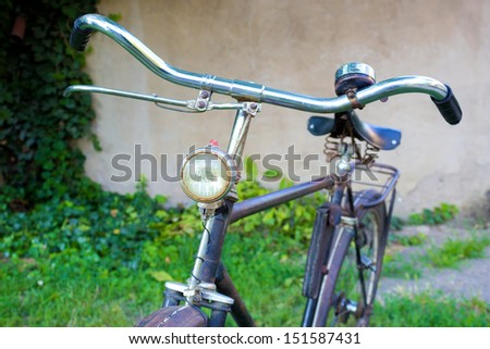 old black bicycle  - stock photo