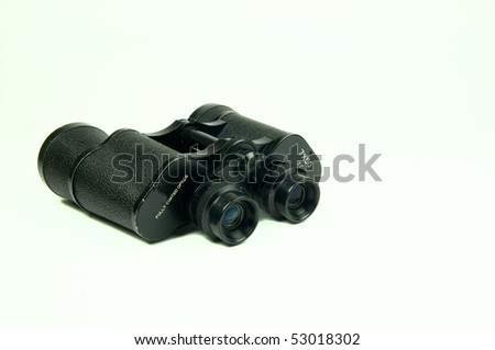 old black binocular isolated on white background