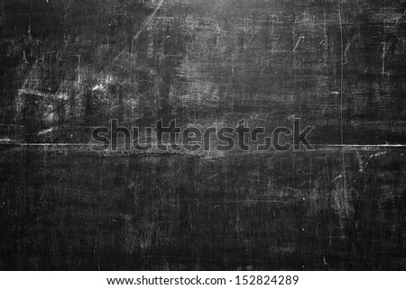 old black blank chalkboard for background - stock photo