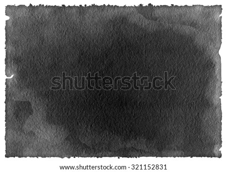 Old black paper isolated on white - stock photo