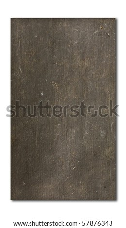 old black  paper isolated on white background - stock photo
