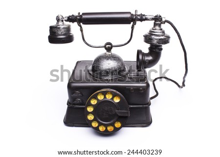 old black phone - stock photo
