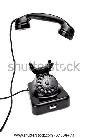 Old Black Retro Phone
