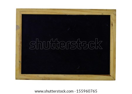 Old blackboard on white - stock photo