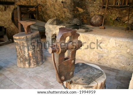 Old blackmith shop - stock photo