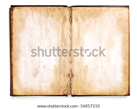 Old blank book - stock photo