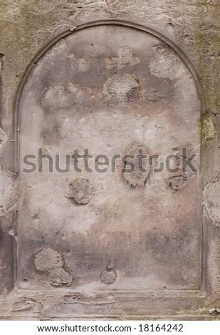 Old blank gravestone - stock photo