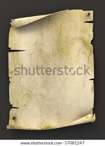 old blank manuscript as background - stock photo