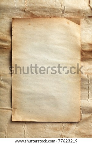 Old blank paper - stock photo