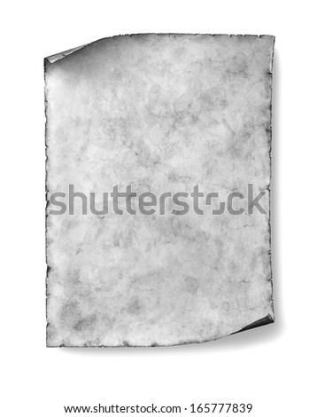 old blank paper sheet isolated