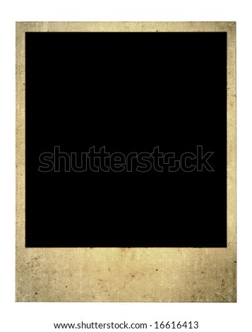 old blank photo frame isolated on pure white background