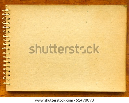 Old blank sketch book - stock photo