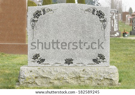Old Blank Tombstone - stock photo