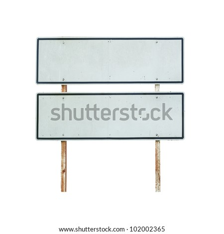 Old blank traffic sign - stock photo