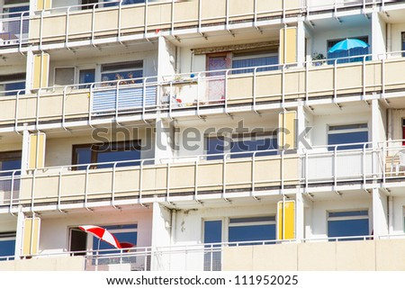 old block of flats in dresden - germany - stock photo