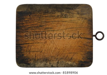 old block wood in kitchen isolated - stock photo