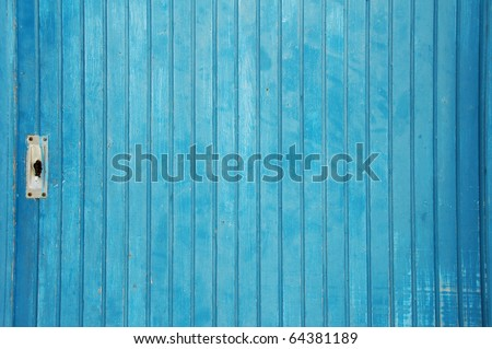 old blue door closeup - stock photo