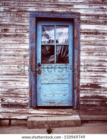 Old Blue Door, Old Paint, Old Town