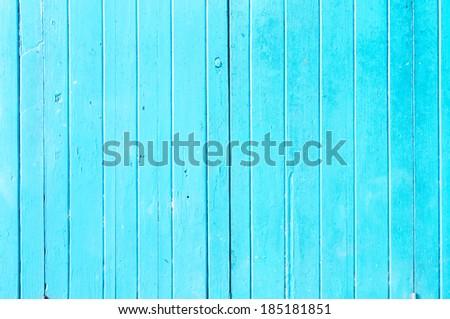 Old blue door wood texture - stock photo