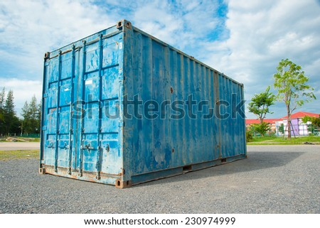 Old Blue freight container