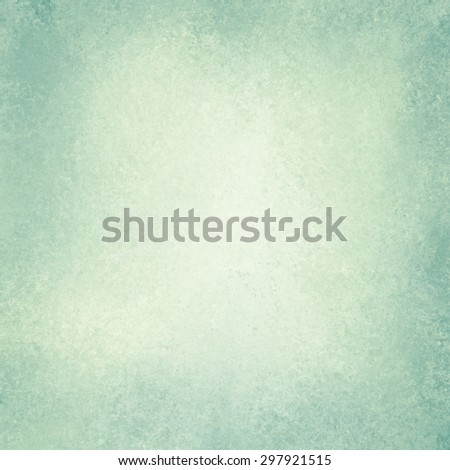 old blue green paper background, off white yellowed center, vintage paper with dark edges or grunge border design, aged distressed texture and stains - stock photo