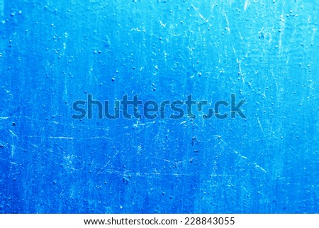 Old blue metal texture background from garage - stock photo