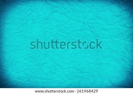 Old Blue Paper Texture. Background. Frame - stock photo