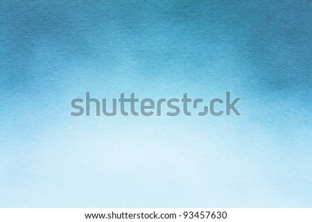 Old blue paper texture (horizontal) / Watercolour paper texture for artwork - stock photo