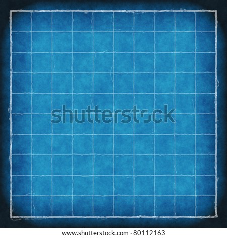 old blue print blueprint background texture - stock photo