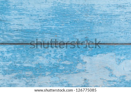 Old blue wood texture - stock photo