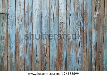 old blue wood wall texture and background - stock photo