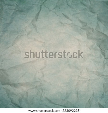 old blue wrinkled paper texture or background