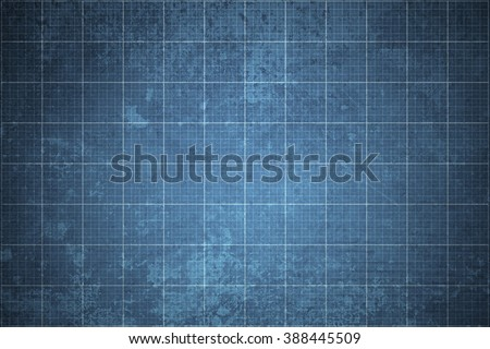 old blueprint background texture. Technical backdrop paper. Concept Technical / Industrial / Business / Engineering - stock photo